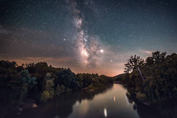 The Milky Way reflecting on the Meramec River #2