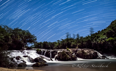 Startrail Waterfall