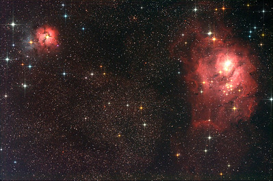The Trifid and Lagoon Nebula