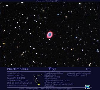 M57 in Lyra - zoomed