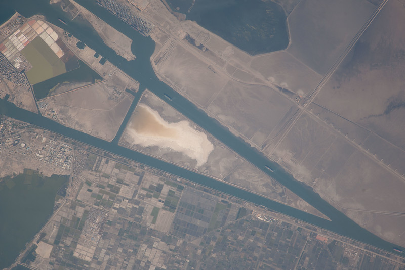 Suez Canal and Port Said, Egypt