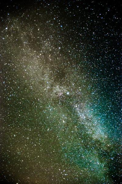 Milchstraße mit Schwan in Schweden