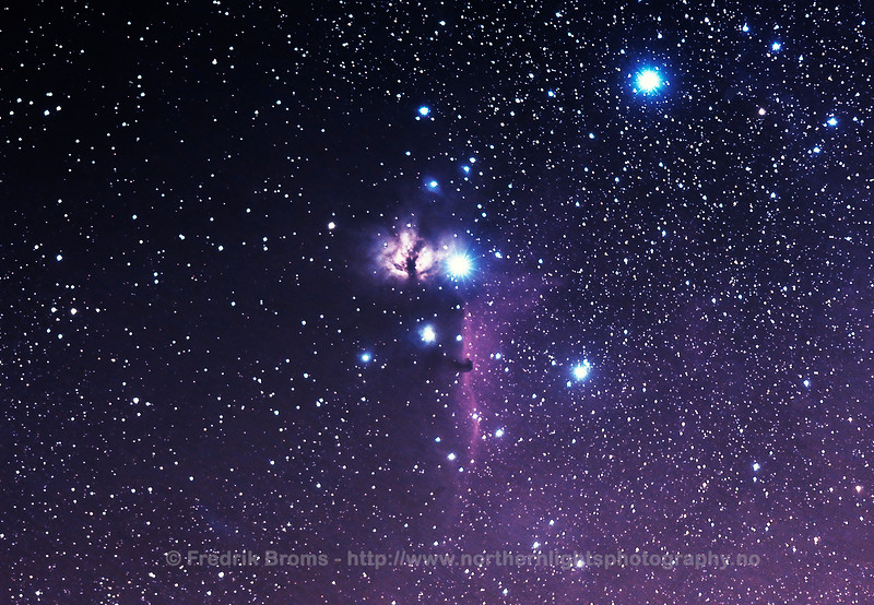 The Horsehead and Flame Nebula in Orion
