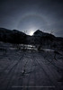 Moon Halo over Winter Landscape, Norway