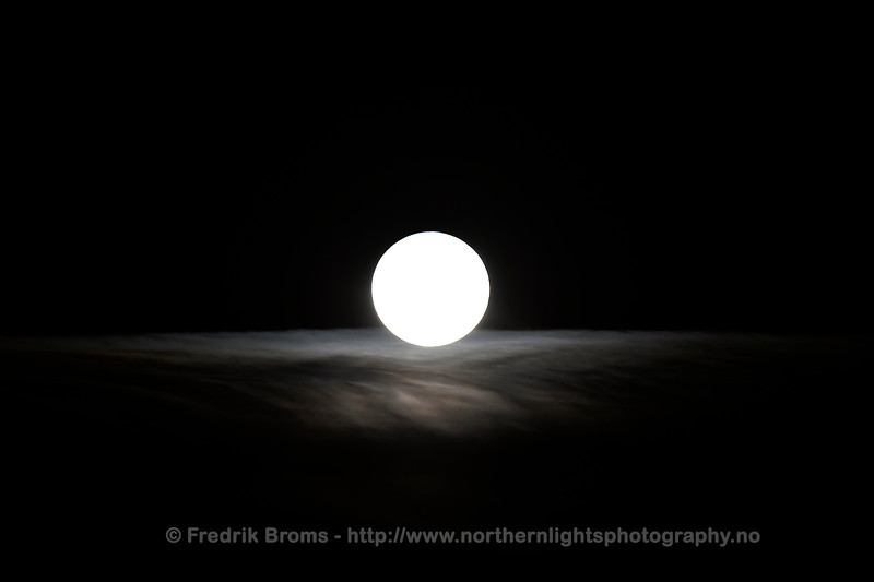Full Moon on a Blanket of Clouds