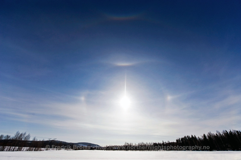 Detailed Ice Halo, Rovaniemi, Finland
