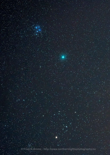 Comet Wirtanen, the Pleiades and the Hyades