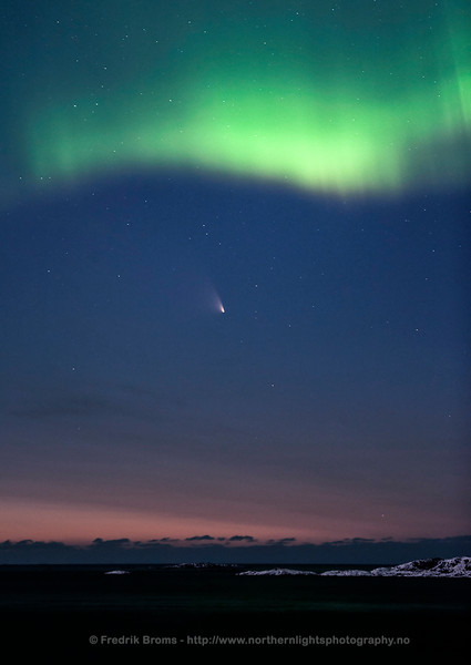Comet and Northern Lights at Dawn