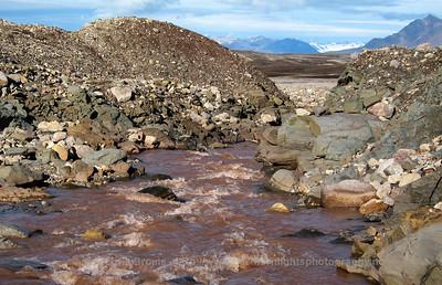 Glacial meltwater river Bayelva, Svalbard