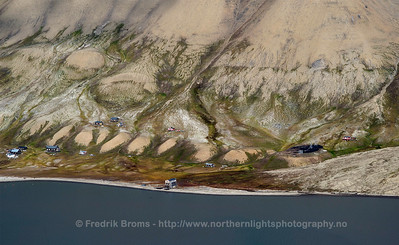 The abandoned coal-mining settlement Hiorthamn, Svalbard