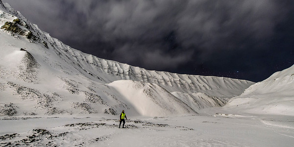 In front of Larsbreen (Lars Glacier), Svalbard