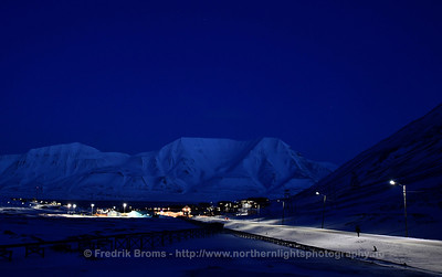 Longyearbyen during Blue Hour