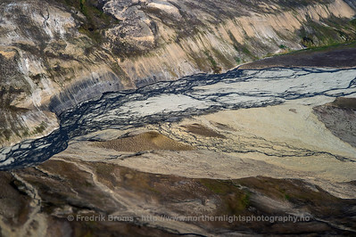 Aerial view of Permafrost Landscape, Svalbard