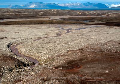 Glacial meltwater runoff, Bayelva, Svalbard
