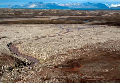 Glacial meltwater runoff, Bayelva, Svalbard