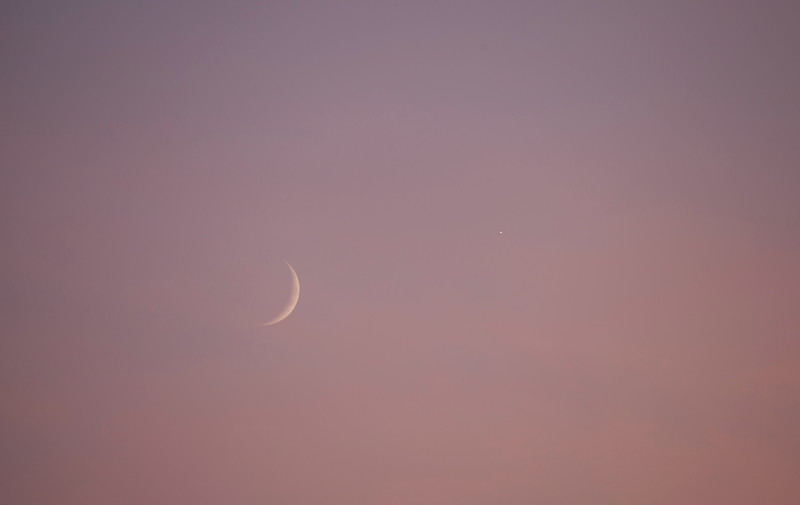 The crescent of Moon and Venus