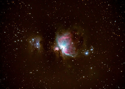 M42 & NGC1977 The Orion Nebula & The Running Man Nebula