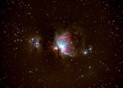 M42 & NGC1977 The Orion Nebula & The Running Man Nebula