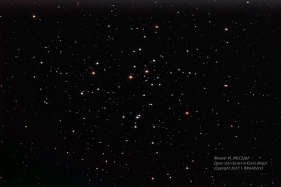 Messier 41, Open Star cluster in Canis Major