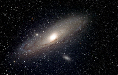The Andromeda Galaxy and companions, M31, M32, M110.