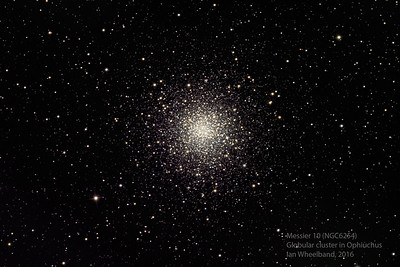 Messier 10, globular star cluster