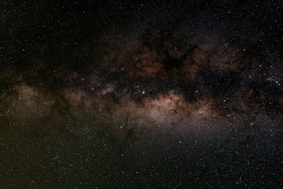 Milky Way (towards the dust hidden core)