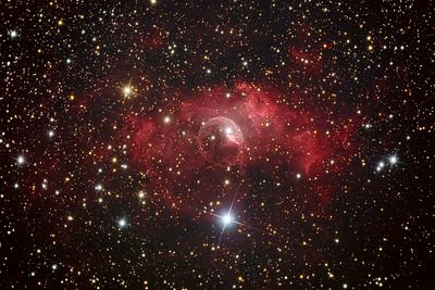 NGC 7635, the Bubble Nebula, emission nebula in Cassiopeia