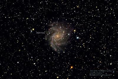 """Supernova SN2017eaw in """"Fireworks"""" galaxy, NGC6946"""
