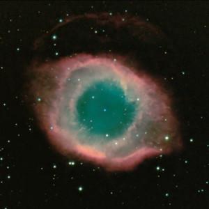 NGC 7293, the Helix nebula, a planetary nebula in Aquarius