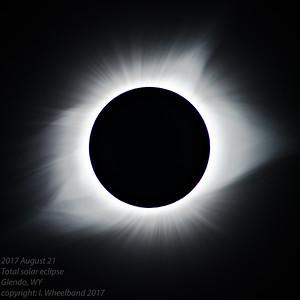 Total Solar eclipse, 21AUG2017, Glendo, WY.  The solar Corona.
