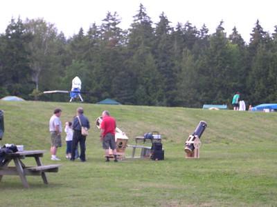 Preparing for Nova East star party, August 2004