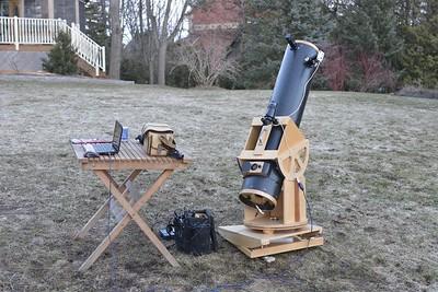 "8"" F6 homemade telescope, 14 April 2014."