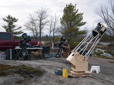 Setting up for a night of imaging and observing at Torrence Barrens dark sky preserve