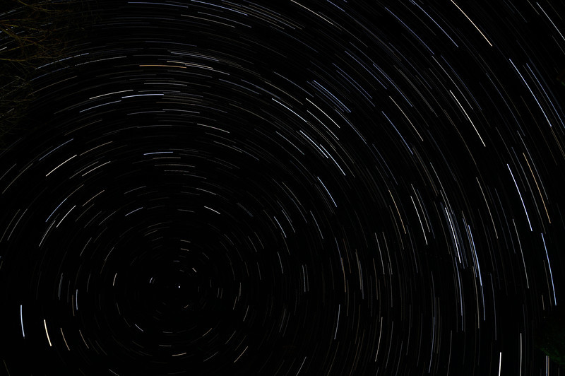 Polaris the North Star, exposure every 30 seconds for 43.5 minutes. Stitched together in Photoshop.