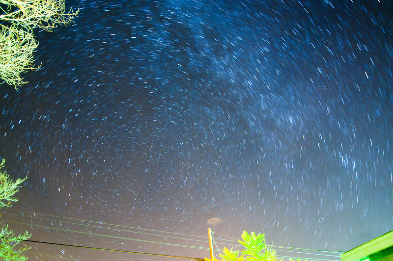 Polaris the North Star 1st attempt, left the shutter open for about 7 minutes.