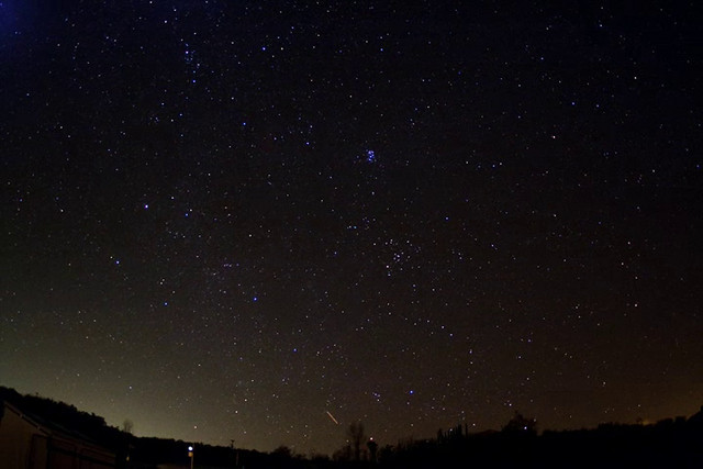 "Time-lapse video of the Leonid meteor shower of 2009. The streaks seen in the early part of the video are airplanes. Leonid meteors start to be visible after the radiant point in Leo rises, about half-way through the video.  For more info, see <br /> <br /> <a href=""http://www.eanet.com/kodama/astro/2009/1117/"">http://www.eanet.com/kodama/astro/2009/1117/</a>"