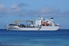 Our ship, the Aranui3. Part cargo ship, part cruise ship.