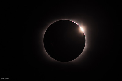 Second contact (start of totality) diamond ring.