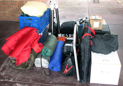 Kwolyin trip - Gear ready for loading into the Car - 30/11/2013