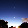 Lunar conjunction with Venus, Saturn, Mercury and Zubenelgenubi below Scorpius - 7/10/2013 (Processed image)