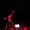 Telescope during image capture under red light - 3/8/2013 (Processed image)