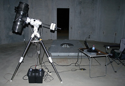 Perth Observatory - Geoff's gear in the 1-metre dome