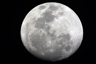 Waning Gibbous Moon - 23/02/2013 (Processed video stack)