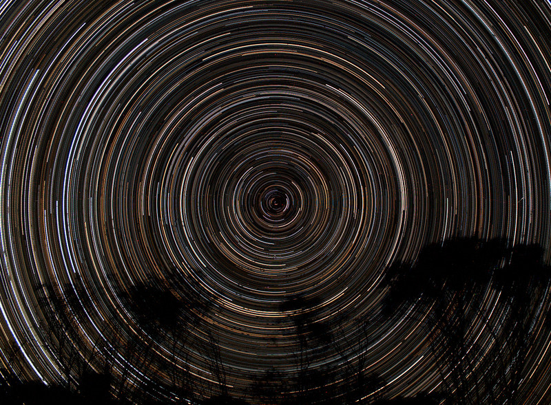 South Polar Star Trails - 30/11/2013 (Re-processed cropped stack)