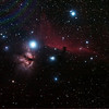 IC434 Horsehead Nebula and NGC2024 Flame Nebula near Star Alnitak - 10/11/2013 (Reprocessed stack)