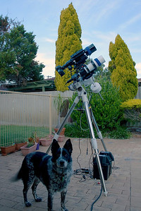 Cinders with Geoff's Telescope - Apogee 80mm APO with Orion ST80 Guidescope - 31/10/2013 (Processed image)