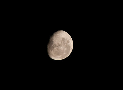 Gibbous Moon - 21/12/2013 (Processed cropped single image)