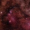 IC1274-5 Gum75 & NGC6429 Nebula with IC4685 Dark Nebula in Sagittarius (near M8 Lagoon Nebula) - 25/9/2014 (Processed stack)
