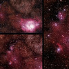 IC1274-5 Gum75 & NGC6429 Nebula with IC4685 Dark Nebula in Sagittarius (near M8 Lagoon Nebula) - 24-26/9/2014 (3 x Processed cropped stacks)