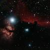 IC434 Horsehead Nebula and NGC2024 Flame Nebula near Star Alnitak - 3/1/2014 (Re-processed cropped stack)